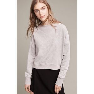 Anthropologie Heather Ribbed Pullover (S)